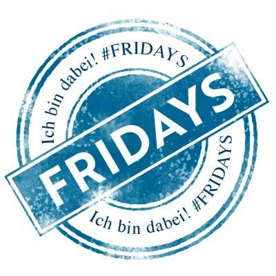Logo von den Produzenten von dem Dokumentarfilm über die Fridays For Future. Blauer Stempel mit weißer Schrift.