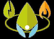 Logos fuer Strom, Gas und Genossenschaft kombiniert.