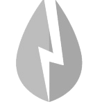 Stilisierter Blitz als Symbol fuer Strom in schwarz weiss.
