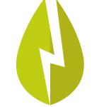 Stilisierter Blitz als Symbol fuer Strom.