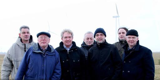 Gruppenfoto auf dem Feld